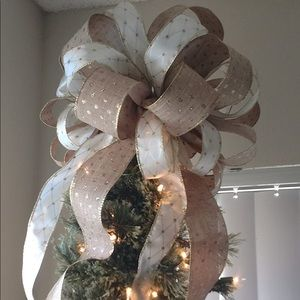 Other - Custom ribbon decor or tree toppers